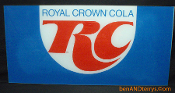 Royal Crown Cola Soda Lucite Machine Display Sign