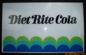 Diet Rite Cola Soda Lucite Soda Machine Display Sign