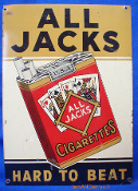 All Jacks Cigarettes Tin Sign