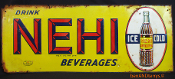 Nehi Beverage Embossed Tin Soda Advertising Sign