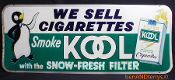 KOOL Cigarette Sign Advertising Metal Tobacciana sign