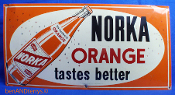 Norka Orange Soda Cola Beverage Advertising Sign