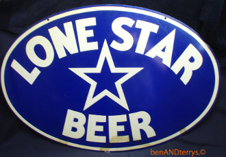 Lone Star Beer Metal Sign