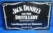 Jack Daniel's Old Time Distillery Double Sided Porcelain Sign