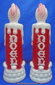 "Pair of Noel Candles 13"" Blow Mold"