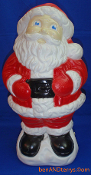 "Happy Santa Hands on belt holding belly 18"" Blow Mold."