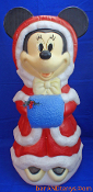 "Minnie Mouse with hands warming in blue muff 30"" blow mold"