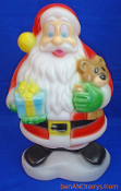 Chubby Smiling Santa Christmas blow mold who comes bearing gifts