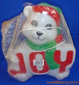 "Joy Bear 14"" Christmas Blow Mold in its original package"