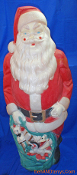 Santa with sack of gifts Christmas Blow Mold