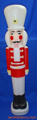 "Soldier Nutcracker wearing white hat 40 1/2"" Christmas Blow Mold"