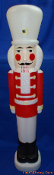 "Soldier Nutcracker with white hat 40 1/2"" Christmas Blow Mold"
