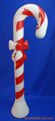 "Candy Cane with red bow Christmas 30"" Blow Mold"