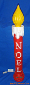 Noel Christmas Candle with yellow flame Christmas Blow Mold