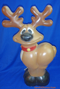 Whimsical Reindeer standing there wide eyed Christmas Blow Mold