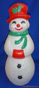 "Snowman Snow Lady Smiling 22"" Christmas Blow Mold"