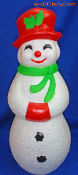 "Snowman Snow Lady 22"" Christmas Happy Blow Mold"