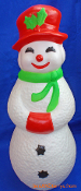 "Snowman Snow Lady 22"" Happy Christmas Blow Mold"