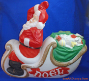 Santa in Sleigh Full of Gifts to Deliver Christmas Blow Mold