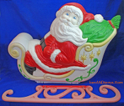 Santa's Sleigh Full of Christmas Gifts Blow Mold