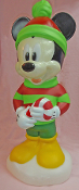 Mickey Mouse Holding Candy Cane Lighted Christmas Blow Mold